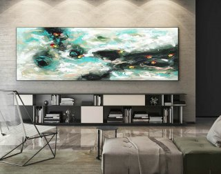 Abstract Canvas Art - Large Painting on Canvas, Contemporary Wall Art, Original Oversize Painting XaS419,office interior design