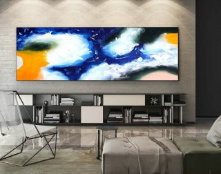 Abstract Canvas Art - Large Painting on Canvas, Contemporary Wall Art, Original Oversize Painting XaS435,famous abstract artists