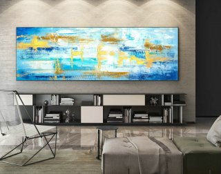 Abstract Canvas Art - Large Painting on Canvas, Contemporary Wall Art, Original Oversize Painting XaS575,abstract watercolor