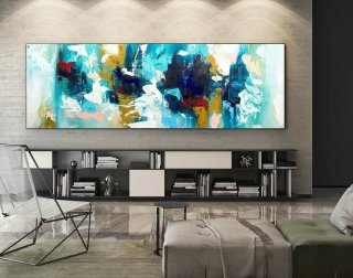 Abstract Canvas Art - Large Painting on Canvas, Contemporary Wall Art, Original Oversize Painting XaS264,modern home interior