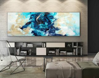 Abstract Canvas Art - Large Painting on Canvas, Contemporary Wall Art, Original Oversize Painting XaS233,home bunch