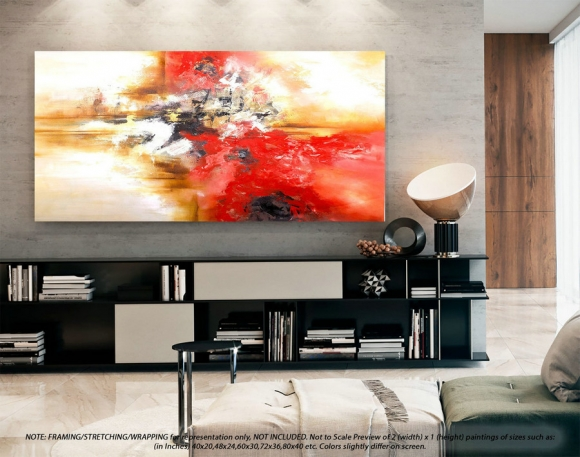 Modern Abstract Painting Wall Art Decor - Modern Abstract Art, Original Wall Art, Original Paintings, Original Paintings on CanvasYNS152,brian gluckstein