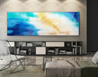 Abstract Canvas Art - Large Painting on Canvas, Contemporary Wall Art, Original Oversize Painting XaS221,abstract colors