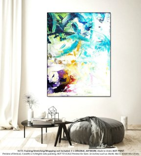 Original Acrylic Abstract Painting - Extra Large Wall Art, Oil Paintings, Kithchen Wall Decor, Housewarming Gift, Painting On Canvas YNS060,interior design 2019