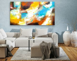 Abstract Canvas Art - Large Painting on Canvas, Contemporary Wall Art, Original Oversize Painting LAS074,modern art sculptures