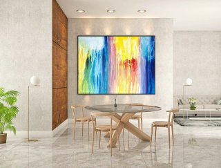 Contemporary Wall Art - Abstract Painting on Canvas, Original Oversize Painting, Extra Large Wall Art LaS147,small bedroom interior design
