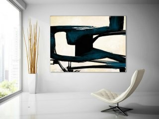 Extra Large Wall Art,Minimal Abstract Painting,Contemporary Painting on Canvas,Large Canvas Art,Huge Abstract Painting,Living Room PaS051,dining room interior design