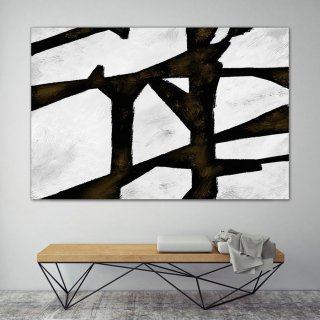 Extra Large Wall Art,Minimal Abstract Painting,Contemporary Painting on Canvas,Large Canvas Art,Huge Abstract Painting,Living Room PaS013,abstract squidward