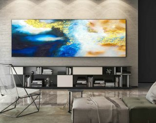 Abstract Canvas Art - Large Painting on Canvas, Contemporary Wall Art, Original Oversize Painting XaS538,large custom canvas prints