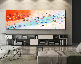 Abstract Canvas Art - Large Painting on Canvas, Contemporary Wall Art, Original Oversize Painting XaS411,abstract nature art