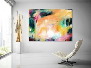 Extra Large Painting on Canvas, Original Abstract Art,Contemporary Abstract Paintings, Large Paintings on Canvas, UNSTRETCHED PaS115,huge canvas art