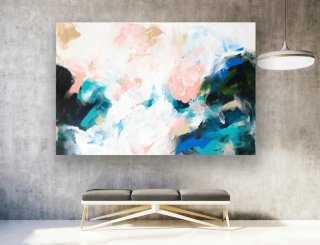 Large Original Abstract Painting On Canvas, Contemporary Wall Art, Extra Large Wall Art,Abstract on Canvas,Original Paintings, Modern LAS186,abstract sunset painting