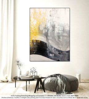 Extra Large Painting on Canvas - Large Canvas Art, Minimalist Art,Art Deco,House Warming Gift, Oversized Wall Art, Above Bed Decor DMS001,flat interior design