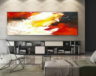 Abstract Painting on Canvas - Extra Large Wall Art, Contemporary Art, Original Oversize Painting XaS199,abstract elephant painting