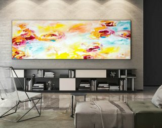 Abstract Painting on Canvas - Extra Large Wall Art, Contemporary Art, Original Oversize Painting XaS027,interior company