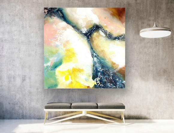 Abstract Canvas Art - Large Painting on Canvas, Contemporary Wall Art, Original Oversize Painting LAS134,interior design netflix