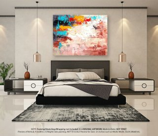 Original Abstract Painting - Canvas Wall Art, Acrylic Painting, Home Decor, Oil Paintings, Contemporary Art, Extra Large Painting YNS018,kid interior