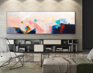 Extra Large Wall art - Abstract Painting on Canvas, Contemporary Art, Original Oversize Painting XaS239,interior design short courses