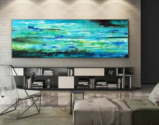 Contemporary Wall Art - Abstract Painting on Canvas, Original Oversize Painting, Extra Large Wall Art XaS080,kitchen and living room design