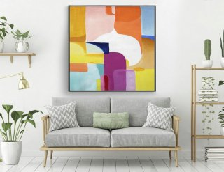 Extra Large Painting on Canvas,Original Large Abstract Painting,Contemporary Art Modern Oil Painting Large Painting laS423,scandi interior design