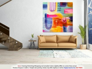 Original Abstract Art - Living Room Wall Art , Housewarming Gift, Office Wall Decor, Extra Large Wall Art, Oversized Wall Art - DMS012,design my own home