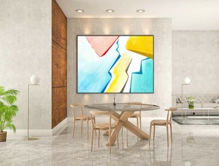 Large Canvas Art - Abstract Painting on Canvas, Contemporary Wall Art, Original Oversize Painting LaS180,modern outdoor sculpture