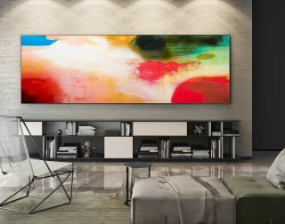 Abstract Canvas Art - Large Painting on Canvas, Contemporary Wall Art, Original Oversize Painting XaS216,abstract seascape paintings