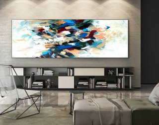 Large Abstract Canvas Art,Extra Large Abstract Canvas Art,Abstract Painting,Extra large Abstract,Huge canvas art,Large Panoramic Art XaS014,japanese style interior design