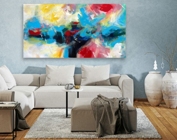 Abstract Canvas Art - Large Painting on Canvas, Contemporary Wall Art, Original Oversize Painting LAS114,amy berry design