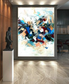 Modern Canvas Oil Paintings,Large Oil Painting,Textured Wall Art,Textured Paintings,Large Colorful Landscape Abstract,Original Art LaS014,angelo donghia