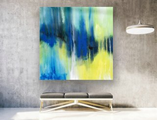 Abstract Canvas Art - Large Painting on Canvas, Contemporary Wall Art, Original Oversize Painting LAS141,famous female painters of the 20th century
