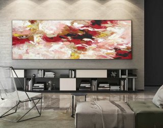Abstract Painting on Canvas - Extra Large Wall Art, Contemporary Art, Original Oversize Painting XaS427,healthcare interior design