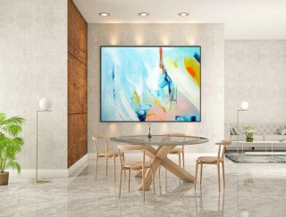 Contemporary Wall Art - Abstract Painting on Canvas, Original Oversize Painting, Extra Large Wall Art LaS279,abstract art for living room