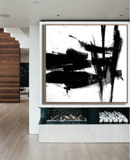 Black and White Large Art, Black White Canvas Art, Black and white decor, Black White Minimal Art, Large Decor Painting, Large Wall Art, Art,sennelier abstract acrylics