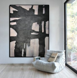 Hand Painted Extra Large Abstract Painting, Horizontal Acrylic Painting Large Wall Art, Original Art.,mother and child paintings abstract