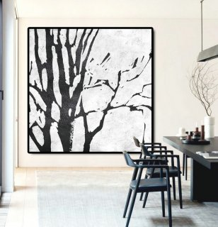 Large Abstract Painting Canvas Art, Landscape Painting On Canvas, Handmade Original Art Abstract Tree.,flower abstract art