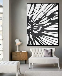 Huge Abstract Painting On Canvas, Vertical Canvas Painting, Extra Large Wall Art, Abstract Art Flower, Handmade,minimalist interior design living room