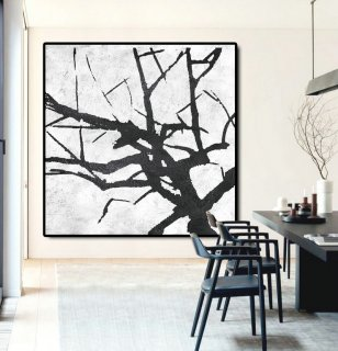 Large Abstract Painting Canvas Art, Landscape Painting On Canvas, Handmade Original Art Abstract Tree.,abstract cherry blossom painting