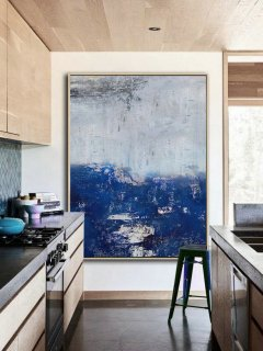 Large Original Abstract Art Painting,Abstract Painting On Canvas,Large Abstract Deep Blue Painting,Abstract Art,Large Wall Canvas Painting,abstract woman body