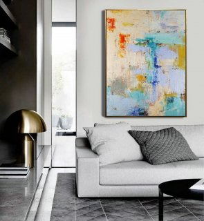 Large Texture Abstract Painting,Acrylic Abstract Painting,Blue Grey Abstract Art Painitng,Large Living Room Art Abstract Paintings On Canvas,japanese abstract painting