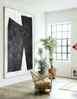 Large Abstract Art, Handmade painting Minimalist Art, Abstract Painting On Canvas, Geometric Art. Black White.,andy warhol modern art