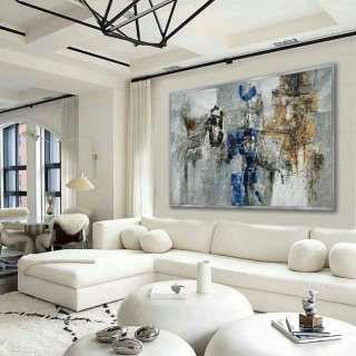 "Abstract wall art work Hand painted Textured Modern Contemporary Horizontal Oil Painting on Canvas Hotel Office Living Room 48X72"" 120X180cm,the gallery of modern art"