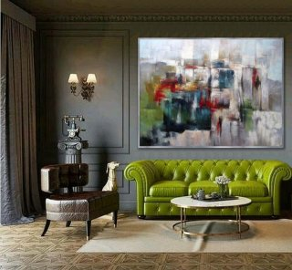 Colorful abstract wall Art Hand painted Modern painting Super Large Oversize Acrylic Canvas Art Office Wall Art,abstract figurative painting in acrylics