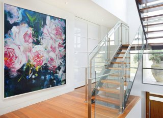 Abstract flower Oil Painting On Canvas, Original Art, Impressionist Landscape Painting by Jackson,large mural canvas
