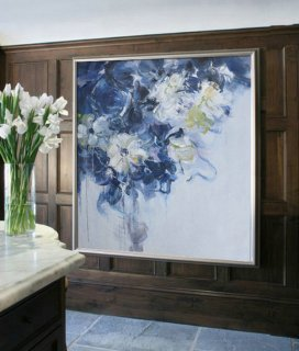 Abstract flower Oil Painting On Canvas, Original Art, Impressionist Landscape Painting by Jackson,julia kotenko painting