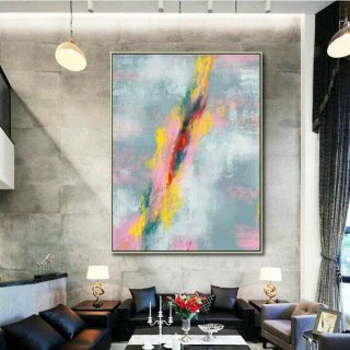 Abstract Canvas Art - Large Painting on Canvas, Contemporary Wall Art, Original Oversize Painting MaS001,museum of modern art paintings