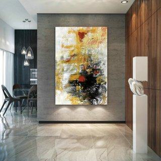 Large Modern Wall Art Painting,Large Abstract wall art,bright painting art,large abstract art,large wall art decor BN0072,paintings of houses abstract