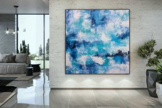 Extra Large Wall Art Palette Knife Artwork Original Painting,Painting on Canvas Modern Wall Decor Contemporary Art, Abstract Painting DMC133,abstract art white
