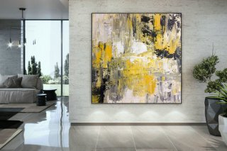 Large Painting on Canvas,Extra Large Painting on Canvas,large art on canvas,large interior art,square painting DAC047,angel abstract painting