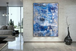 Large Painting on Canvas,Extra Large Painting on Canvas,large canvas art,huge canvas painting,oil large painting DAC015,abstract seascape canvas